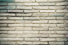 Vantages white brick wall Stock Photography