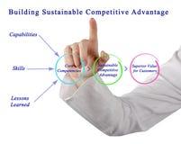 Vantaggio competitivo sostenibile di costruzione Fotografie Stock