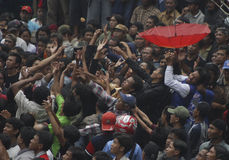VANTAGGIO D'INDEBOLIMENTO DELLA RUPIA DELL'INDONESIA Immagini Stock Libere da Diritti