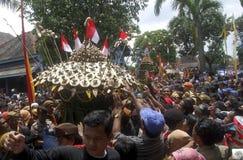 VANTAGGIO D'INDEBOLIMENTO DELLA RUPIA DELL'INDONESIA Fotografie Stock Libere da Diritti