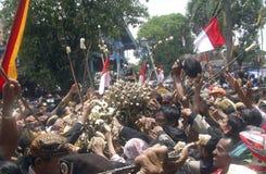 VANTAGGIO D'INDEBOLIMENTO DELLA RUPIA DELL'INDONESIA Fotografia Stock