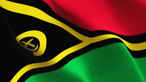 Vanuatisk flagga som vinkar på vind stock illustrationer