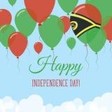 Vanuatiskt kort för självständighetsdagenlägenhethälsning Royaltyfri Illustrationer