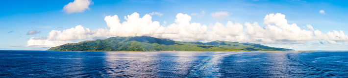 Vanuatu - ö panorama Arkivfoto