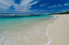 Vanuatu beach. Dream beach in Vanuatu with clear water and white sand Stock Image