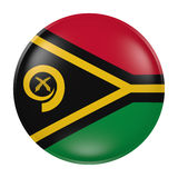 Vanuatu button on white background. 3d rendering of a Vanuatu  flag on a button Royalty Free Stock Image