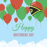 Vanuatu dnia niepodległości mieszkania kartka z pozdrowieniami Zdjęcie Royalty Free
