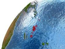 Vanuatu on Earth Stock Image