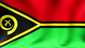 Vanuatu Flag. Background Seamless Looping Animation. 4K High Definition Video. stock video