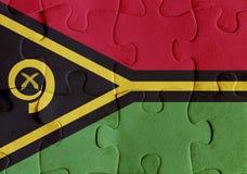 Vanuatu flag puzzle Stock Photos