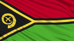 Vanuatu Flag. Vanuatu Flag, with real structure of a fabric stock footage