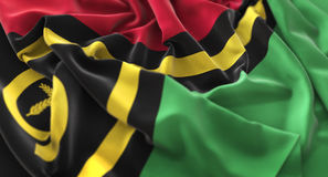 Vanuatu Flag Ruffled Beautifully Waving Macro Close-Up Shot. Studio Royalty Free Stock Photo