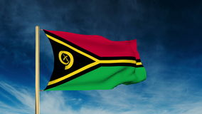 Vanuatu flag slider style. Waving in the win with stock video