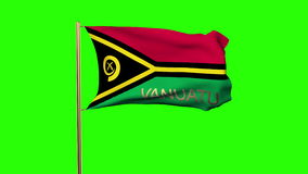 Vanuatu flag with title waving in the wind stock video