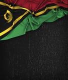 Vanuatu Flag Vintage on a Grunge Black Chalkboard  Royalty Free Stock Photography