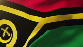 Vanuatu flag waving in the wind. Looping sun rises stock video footage