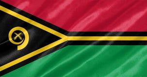 Vanuatu-Flagge stockbild