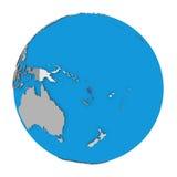Vanuatu on globe Royalty Free Stock Photography