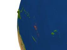 Vanuatu on globe Stock Image