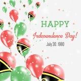 Vanuatu Independence Day Greeting Card. Royalty Free Stock Photo