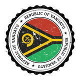 Vanuatu map and flag in vintage rubber stamp of. Royalty Free Stock Photo