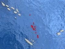 Vanuatu on map Stock Photography