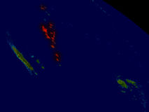 Vanuatu from space Royalty Free Stock Images