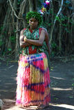 Vanuatu tribal village girl Royalty Free Stock Photos