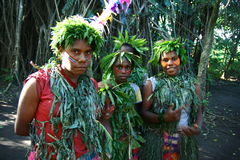 Vanuatu tribal village girls Stock Images