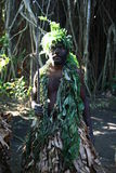 Vanuatu tribal village man Royalty Free Stock Images