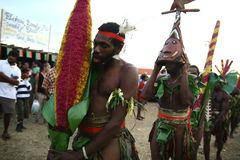 Vanuatu tribal village men Royalty Free Stock Photography