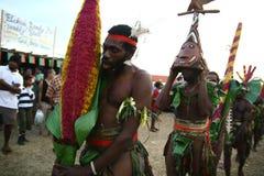 Vanuatu tribal village men Royalty Free Stock Photography