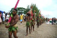 Vanuatu tribal village men Royalty Free Stock Images