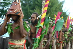 Vanuatu tribal village men Stock Image