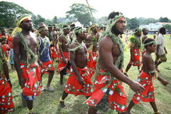 Vanuatu tribal village men Stock Photography
