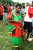 Vanuatu tribal village woman Stock Images