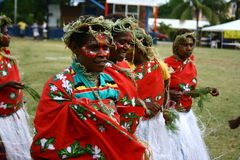 Vanuatu tribal village women Royalty Free Stock Image