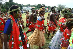 Vanuatu tribal villagers Stock Photo