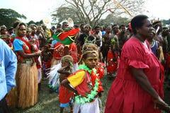 Vanuatu tribal villagers Stock Image