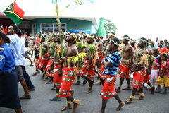 Vanuatu tribal villagers Royalty Free Stock Photos