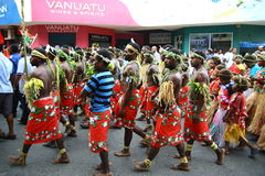 Vanuatu tribal villagers Stock Images