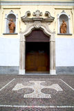 Vanzaghello italy   church    and mosaic sunny Royalty Free Stock Image
