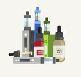 Vape设备传染媒介集合 向量例证