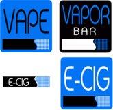 Vape,蒸气酒吧商标 免版税图库摄影