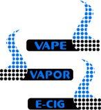 Vape,蒸气酒吧商标 免版税库存图片