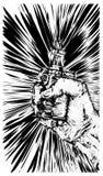 vape διαθέσιμο σκίτσο χεριών τσιγάρων Στοκ Φωτογραφία