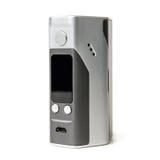Vape изолированный mod коробки E-сигареты vaping RDA Атомизатор капания Rebuildable пар Стоковая Фотография