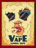Vape a coloré l'affiche illustration libre de droits