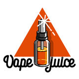 Vape de vintage de couleur, emblème d'e-cigarette illustration de vecteur
