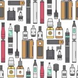 Vape device vector cigarette vaporizer vapor juice vape bottle flavor illustration battery coil electronic nicotine. Vape device vector cigarette vaporizer vapor Stock Images